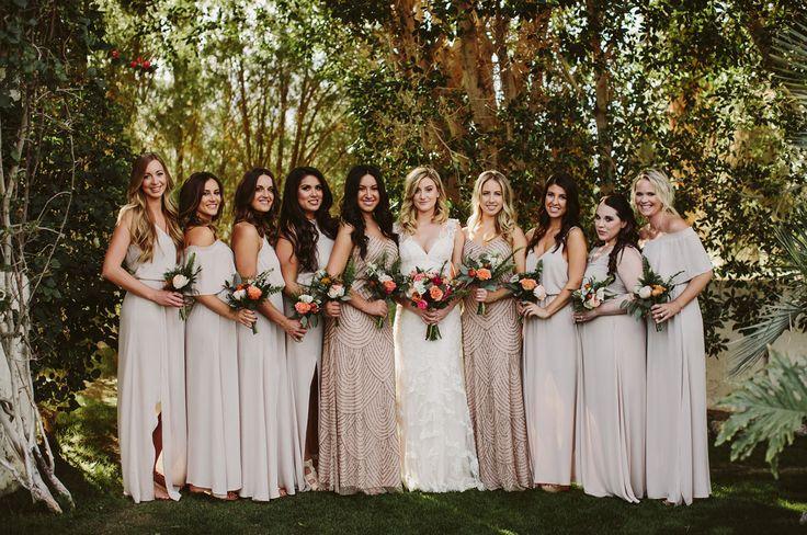 Boho Modern Palm Springs Wedding from Green Wedding Shoes featuring a Martina Liana designer wedding dress