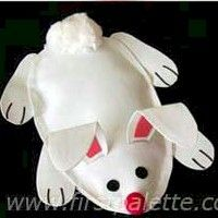 Bean Bag Bunny Craft with pattern: Crafts For Kids, Easter Kids Fun, Pattern