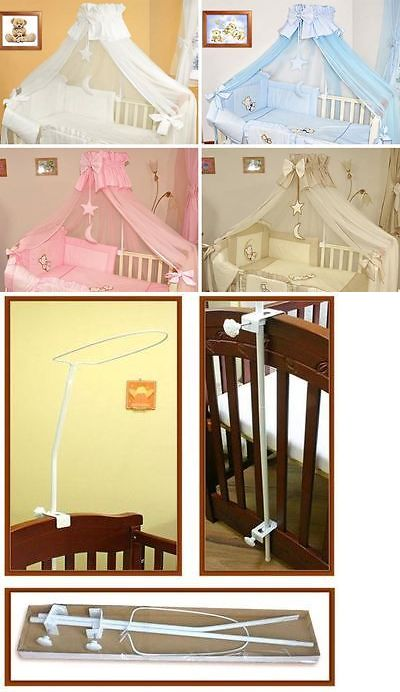 Canopies and Netting 180905: Luxury Cot Canopy With Holder Drape Rod And Decorative Bow, Hanging Stars -> BUY IT NOW ONLY: $23.75 on eBay!