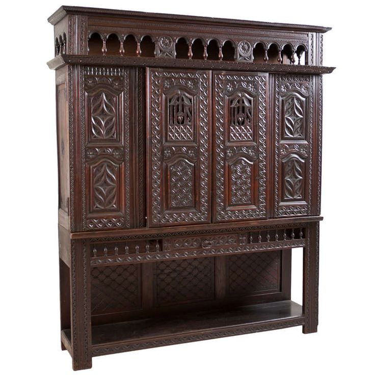 French Louis XIII Revival Cupboard in Carved Oak - 65 Best French Antique Furniture Images On Pinterest French