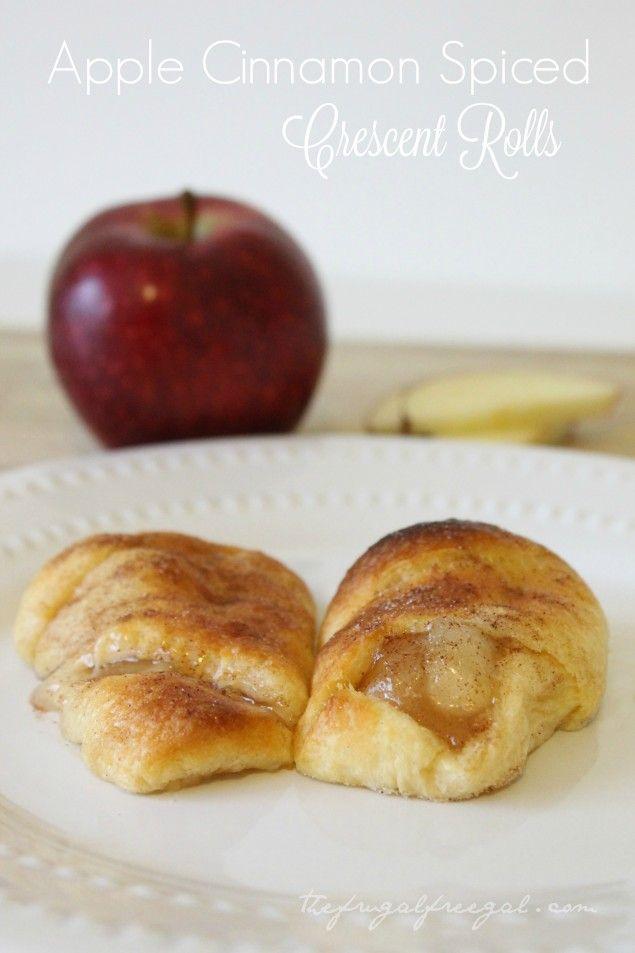 Apple Cinnamon Spiced Crescent Roll Recipe