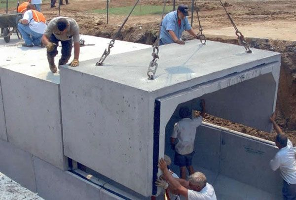 using pre-shaped concrete for a fall out shelter.  Stronger than shipping containers...and less expensive so extra funds can be spent elsewhere.