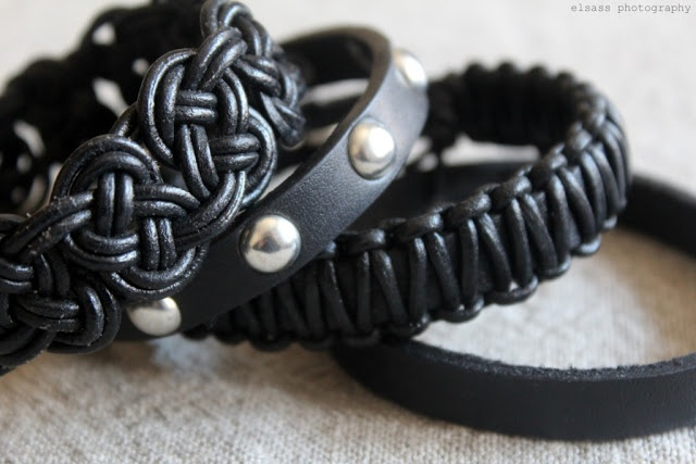 DIY: Leather bracelets made by me