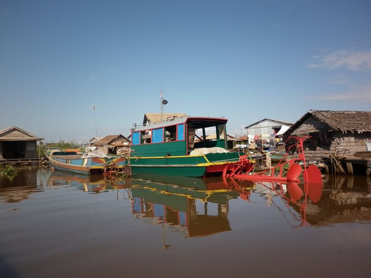 Floating village outside Pursat, Cambodia