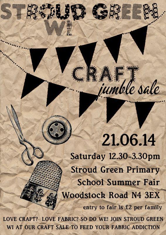 SGWI Craft Jumble Sale