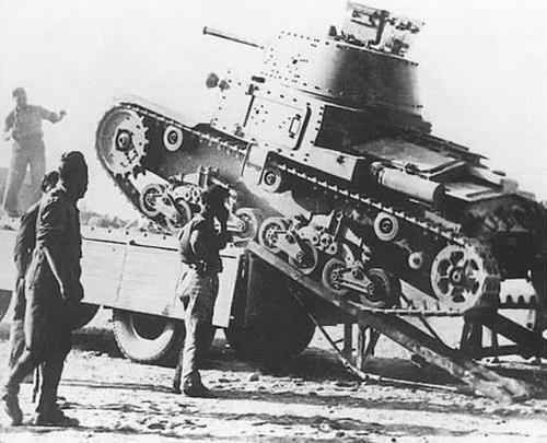 Italian FIAT M13/40  Not renown for their tank designs during WW2, this tank armed with a 47mm gun packed a considerable punch for it's time, however, even though it was soon to become outdated it remained in Italian service until the wars end. #worldwar2 #tanks