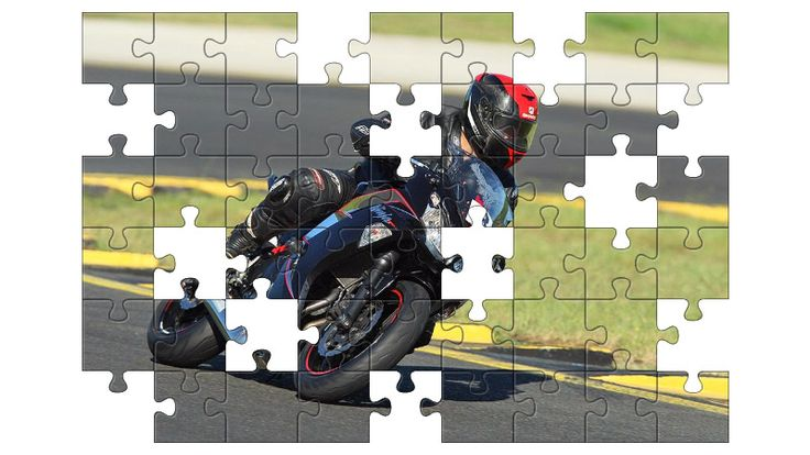 Free Jigsaw Puzzle Online - Motorcyclist  #Game #JigsawPuzzle #Puzzle #jigsaw