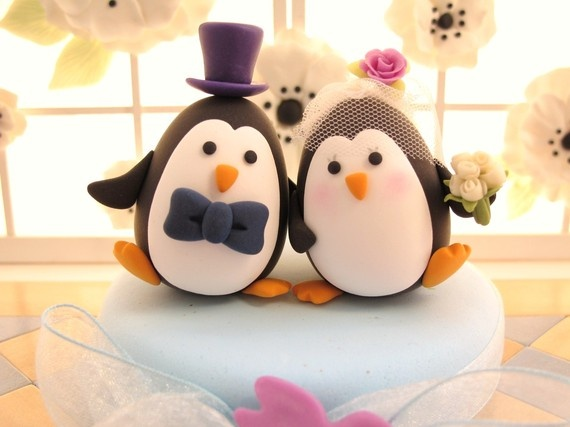 penguin cake toppers