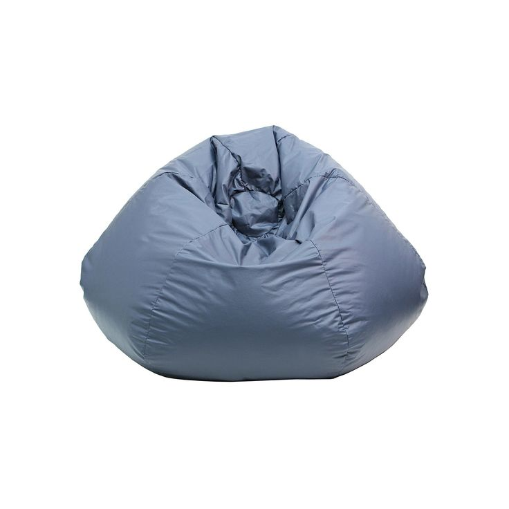 Extra Large Faux-Leather Bean Bag Chair, Blue (Navy)