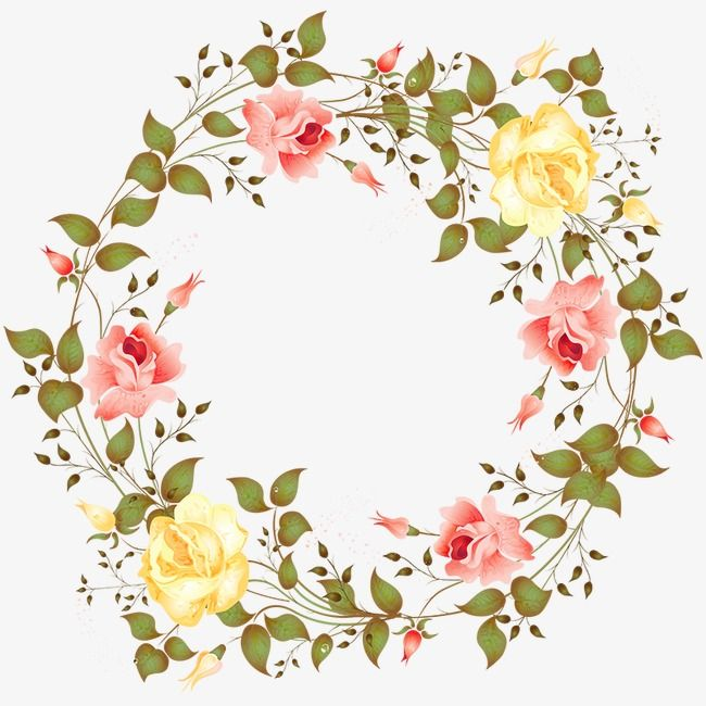 Color Flower Garland Color Vector Flower Vector Color Png Transparent Clipart Image And Psd File For Free Download Watercolor Flower Wreath Flower Drawing Color Pencil Illustration