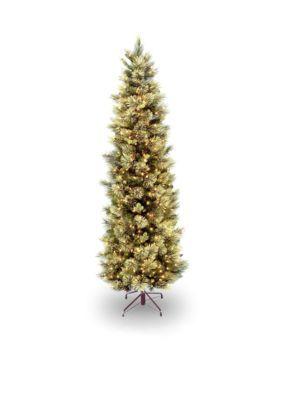 National Tree Company Carolina Pine Slim Tree With Clear Lights - Green - One Size
