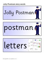 Jolly Postman story word cards