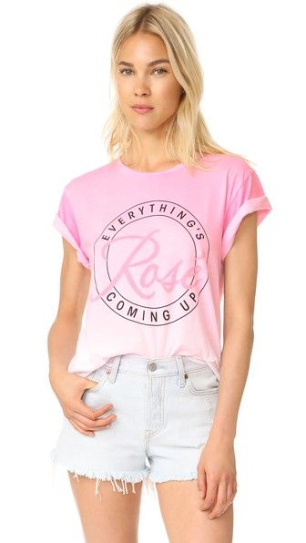 WILDFOX Everything'S Coming Up Rose Tee. #wildfox #cloth #dress #top #shirt #sweater #skirt #beachwear #activewear