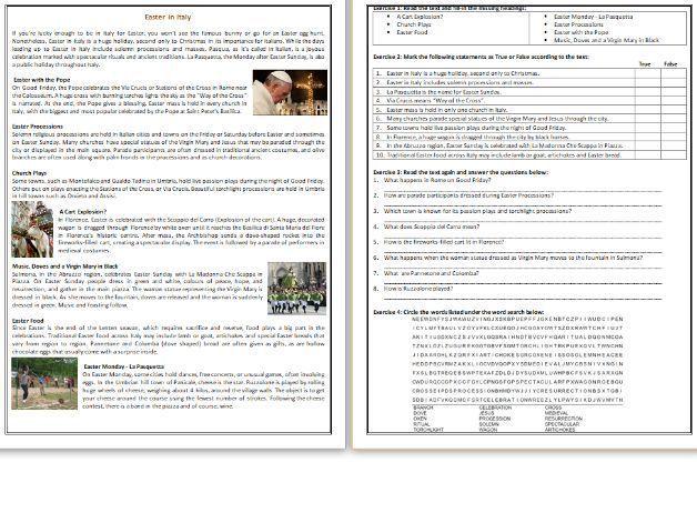 40+ Italian reading comprehension worksheets Popular