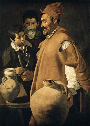 ca 1618 Velazquez. The waterseller of Seville. One of three versions.