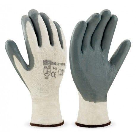 High Top Textil Guantes, Color Blanco, Talla 45