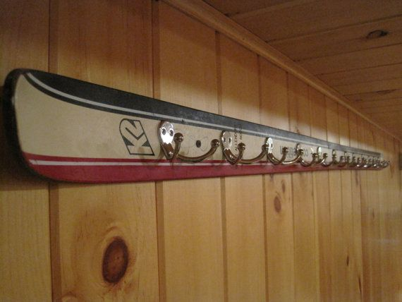 Ski Coat Rack by MansfieldCraftworks on Etsy, $50.00 Want this for the basement