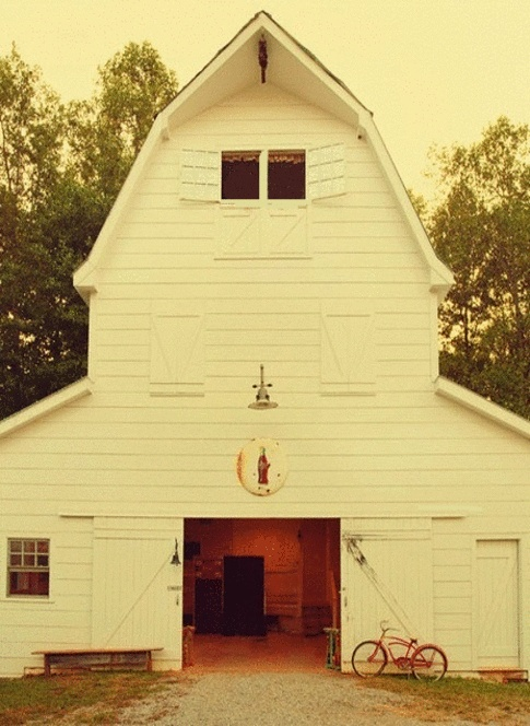 Barn -- unique and different in terms of color.