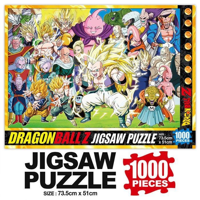 Dragon Ball Z Majin Buu Saga 1000 pieces Jigsaw Puzzles+Box+Poster+Coating gel #DragonBall