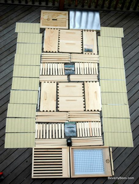 Unassembled Bee Hive kit for Beginner Beekeepers - BEVERLY BEES #beekeepingbeginners #raisingbees