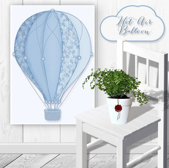 Digital Hot Air Balloon Clipart Hot Air by CornucopiaArtDesign