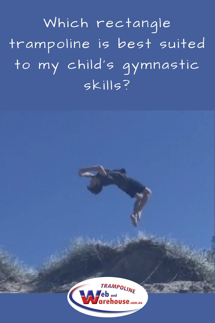 You'll find a suitable gymnastics trampoline here for your child – we will go over each of them for you from a gymnast's perspective. There are 5 rectangle trampolines in our range, 3 of which are commonly purchased for families with kids competent in gymnastics who want to practice even more at home.