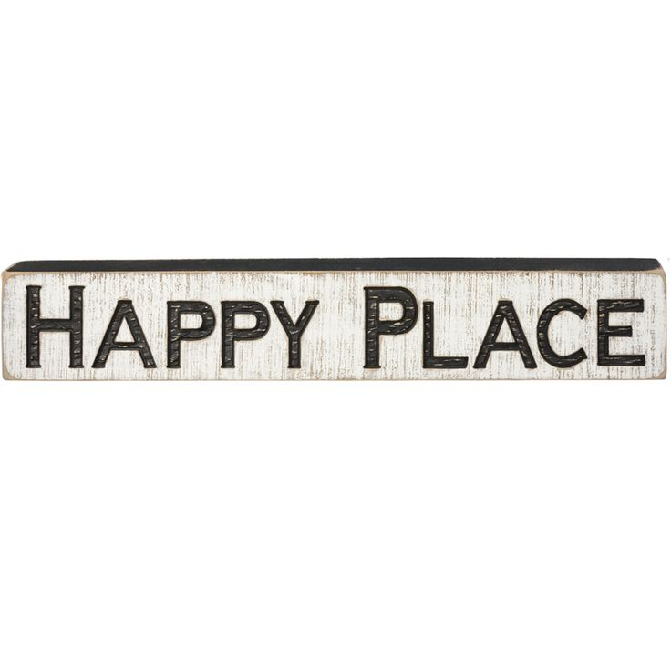 Carved Wood Sign - Happy Place - 35847