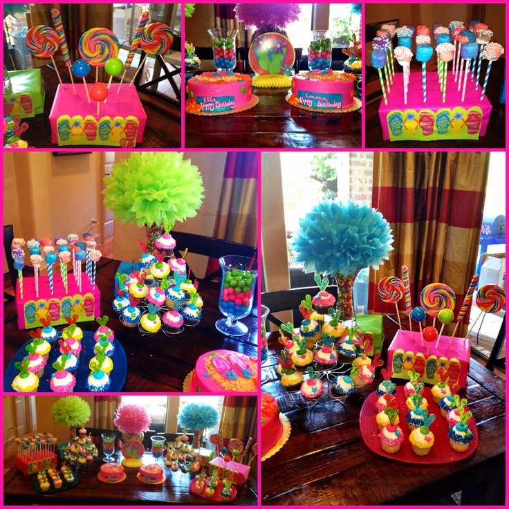 Emma and ella 39 s 7th birthday pool party birthday party for Decoration ideas 7th birthday party