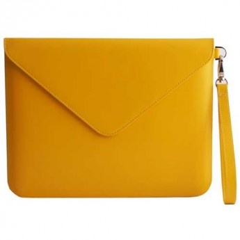 Yellow Leather Tablet Envelope / just for me
