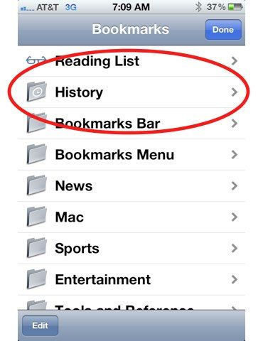 iphone web history tracking
