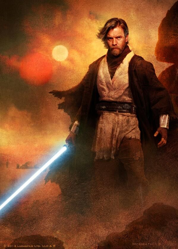 Obi Wan Kenobi on Tatooine after the events of Episode III. Almost all of the Jedi were killed by Order 66, and most of the survivors were killed in the Great Jedi Purge that followed. The Jedi Order survived through acts of surviving Jedi, such as Obi-Wan Kenobi and Yoda, teaching Luke Skywalker the ways of the Force.