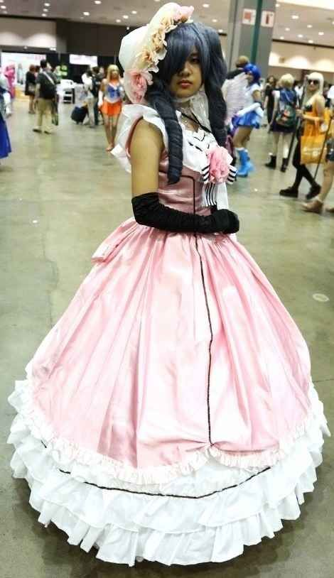 This incredible pink dress from Black Butler . | 23 Gorgeous Anime Expo Costumes That Are Better Than A Wedding Dress