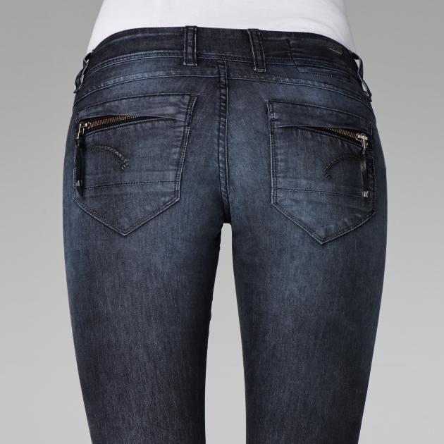 G-Star RAW-Midge Cody Skinny Coloured Jeans-Women-Colour jeans Raven $250