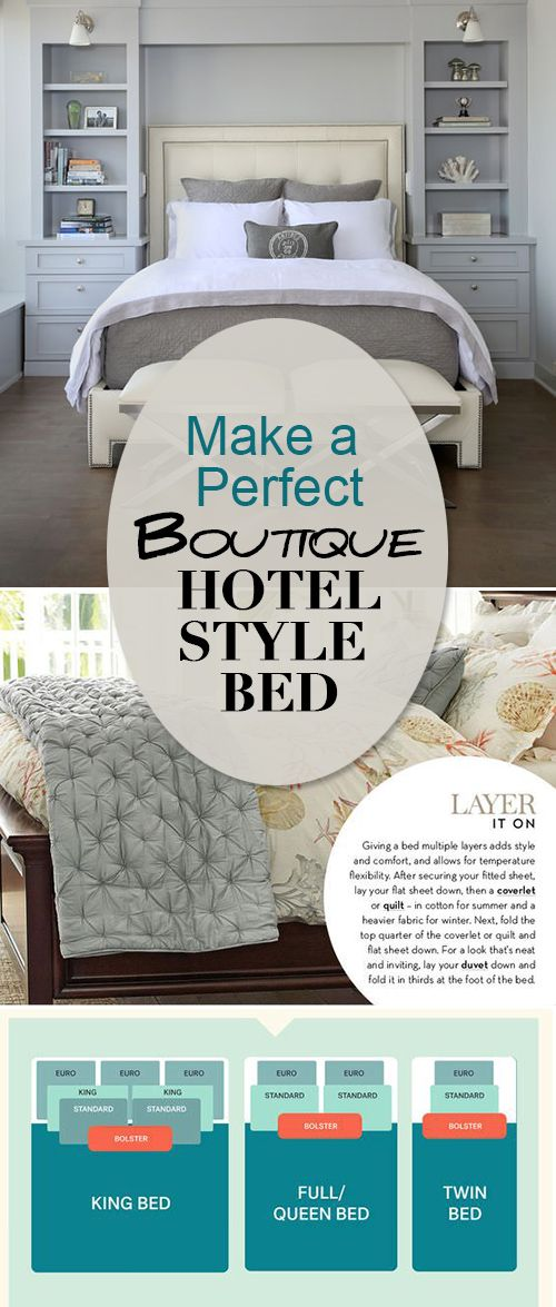 Make a Perfect Boutique Hotel Style Bed • Learn all the tricks to making the perfect bed that looks just like those luxury beds at the fanciest ( and comfiest!) hotels! #howtomakeabed #makeaperfectbed #bedroomdecorating