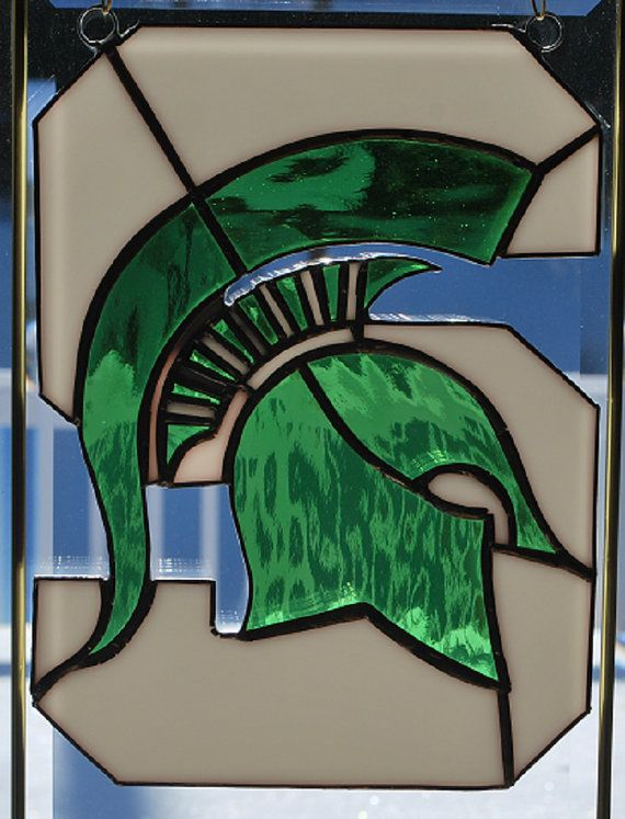 Handmade Michigan State Spartans stained glass by ManemannArt, $45.00