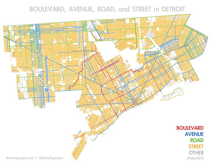 Boulevard, Avenue, Road, and Street in Detroit | DETROITography
