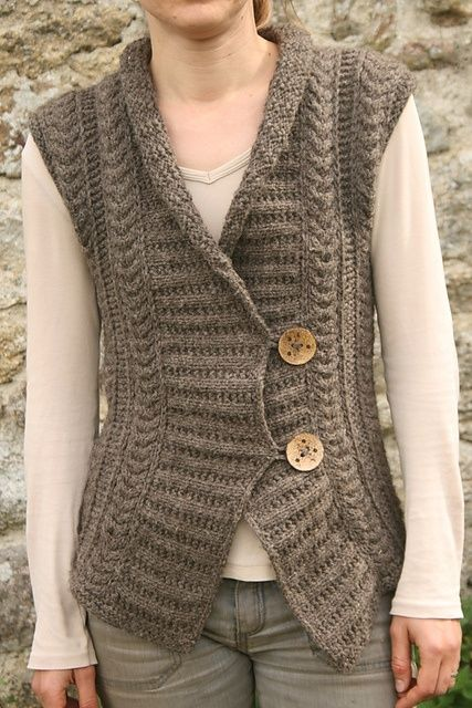 Ravelry: carabistouilles' Distro - eco vest pattern (free) for eco wool.