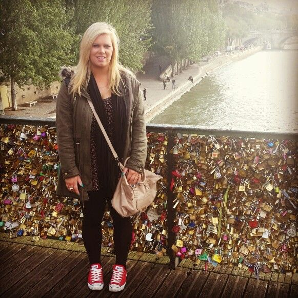 Love Lock bridge,  Paris France.     Been wanting to see this for years, and it didn't disappoint.  So beautiful and lovely to see that Love is alive. X