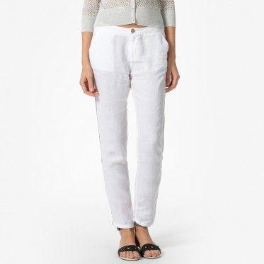 Pantalon En Lin, Femme