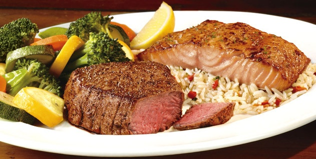 Longhorn Steakhouse; Flo's Filet and Salmon