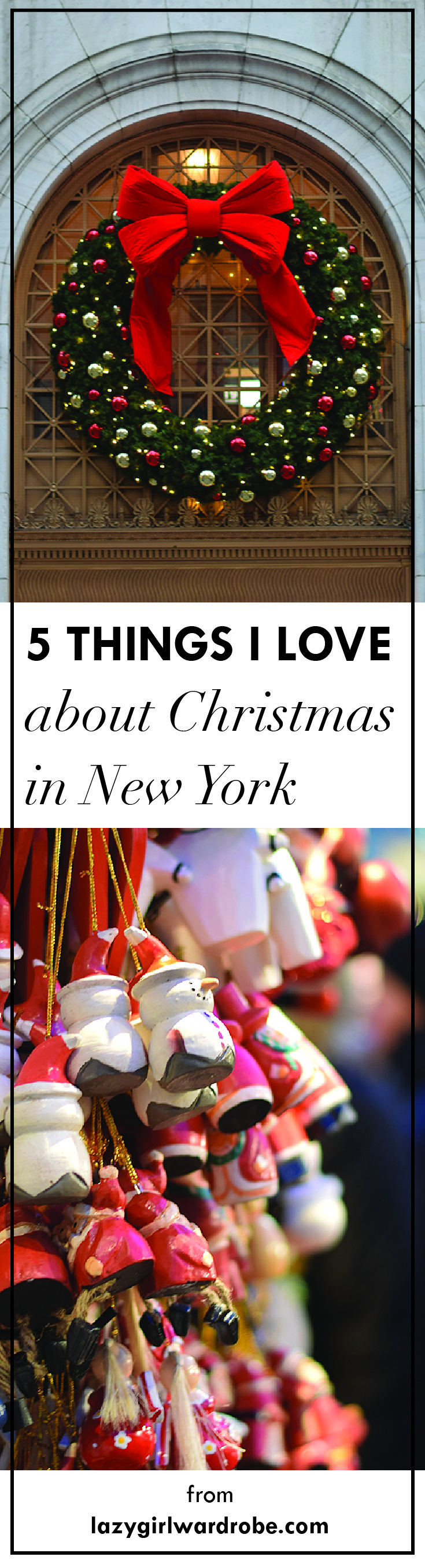 My 5 favourite things about Christmas in New York! Check it out!