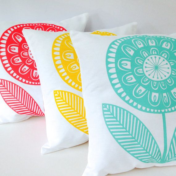 New Scandinavian 'Rosie' cushion pillow cover by by Janefoster