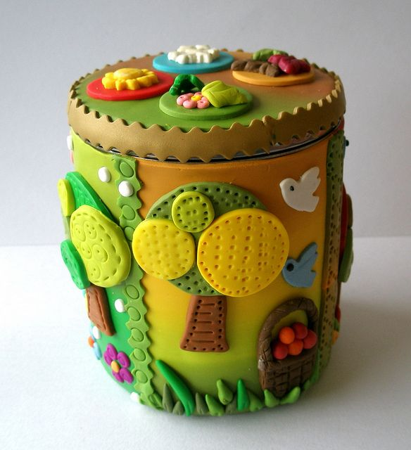 *POLYMER CLAY ~ BOXES by klio1961, via Flickr