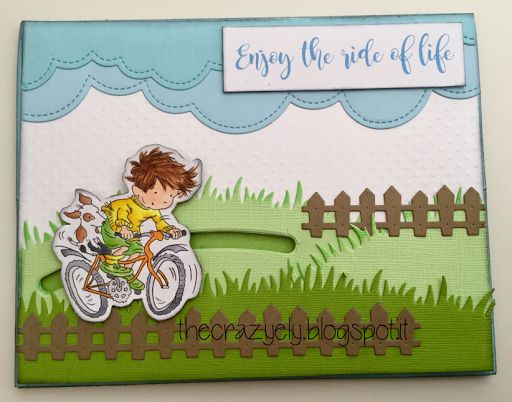 THECRAZYELY: ENJOY THE RIDE EASEL SPINNER CARD