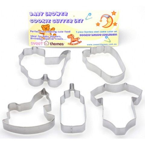 baby shower cookie cutter set 5pce