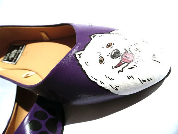 Japanese Spitz Ballerina Flat Shoes.  This listing is for one pair of custom…