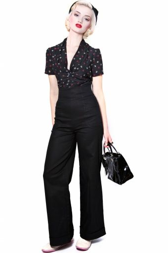 Collectif Clothing - 40s Franky Swing trousers black #topvintage