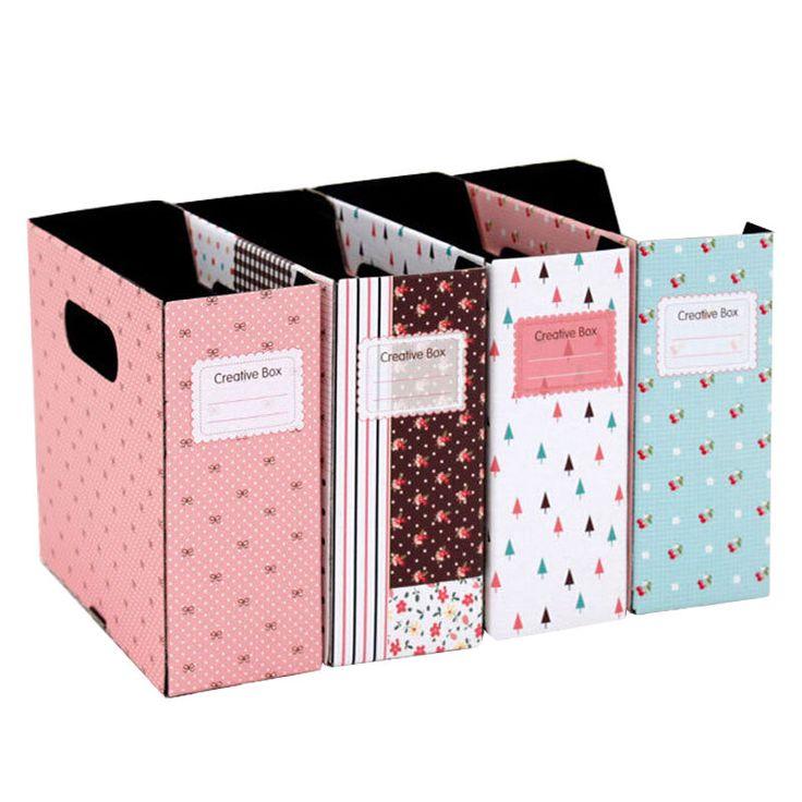Detalles de diy floral pastoril estilo papeler a cart n for Cajas carton almacenaje