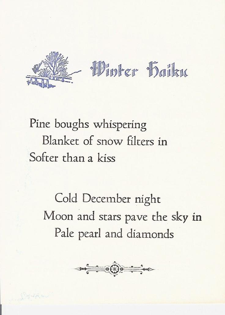 haiku poems about winter - bing images | haiku | haiku, poetry, poems
