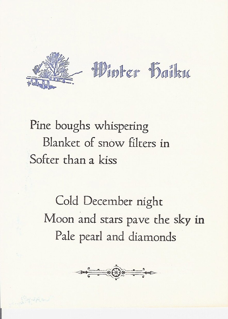 Haiku Poems About Winter - Bing Images